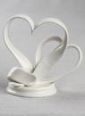 Ivy Lane Design Porcelain Double Hearts Cake Top
