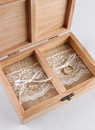 Ivy Lane Design Burlap and Lace Ring Bearer Box Inserts