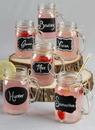 Ivy Lane Design Chalkboard Stickers Mason Jars w/Jute - Set of 12