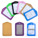 GOGO Superior Quality PU Leather Business ID Badge Card Holder