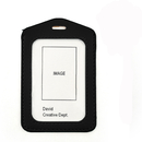 GOGO 100PCS Top Quality PU Leather Business ID Card Holders