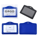 GOGO Badge Holder PU Leather Business ID Card Pouch