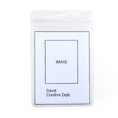 Officeship 50Pcs Vertical Style Frosted PVC Business ID Badge Card Holder, Case With Slot
