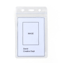 Officeship 50Pcs Lightweight Vinyl Badge ID Card Pocket, Clear Re-sealable