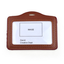 GOGO 50PCS PU Leather Double Window Business ID Credit Card Badge Holders