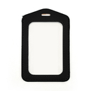 GOGO 100PCS PU Vertical Business ID Badge Card Holder Pouch Case with 2 Clear Windows