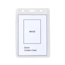 Officeship Vertical Clear Card Protective Holders 50Pcs, Proximity Badge Holder