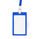 Officeship Frosted Color Frame Badge Holder with Nylon Lanyard, Vertical, 2-1/8