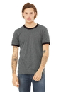 Bella+Canvas 3055 Men's Jersey Short Sleeve Ringer Tee