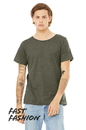 Bella+Canvas 3414 Unisex Triblend Raw Neck Tee