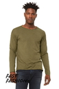 Bella+Canvas 3416 Unisex Triblend Raw Neck Long Sleeve Tee