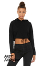Bella+Canvas 6512 Women's Cinched Cropped Hoodie
