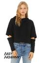 Bella+Canvas 7504 Women's Cut Out Fleece Hoodie