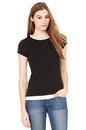 Bella+Canvas 8102 Women's Sheer Jersey Short Sleeve 2 in 1 Tee