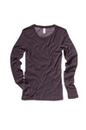 Bella+Canvas 8751 Women's Sheer Mini Rib Long Sleeve Tee