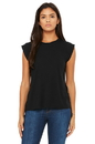 Bella+Canvas 8804 Women's Flowy Muscle Tee with Rolled Cuff