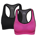 TOPTIE 2-PACK Racerback Sports Bras, Ladies High-support Bras