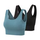 TOPTIE Women's Yoga Sports Bra, Padded Bra Vest Crop Tank Top for Workout Fitness