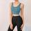 TOPTIE Women's Yoga Sports Bra, Padded Bra Vest Crop Tank Top for Workout Fitness (Black)