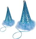 Charming Pet Products Party Hat Blue Stars