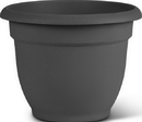 Bloem AP08908 Bloem Ariana Planter With Grid, Charcoal, 8 Inch