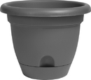Bloem LP10908 Lucca Planter, Charcoal, 10 Inch