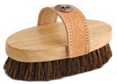 Desert Equestrian Legends Cowboy Western-Style Oval Mud Brush - Tan - 7.5 Inch