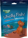 Emerald Pet Products 00640-CFS Wholly Fish Chicken-Free Cat Treats, Salmon, 3Oz