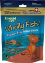 Emerald Pet Products 00641-CFSH Wholly Fish Chicken-Free Cat Treats, Salmon Dh, 3Oz