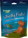 Emerald Pet Products 00642-CFT Wholly Fish Chicken-Free Cat Treats, Tuna, 3Oz