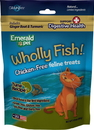 Emerald Pet Products 00643-CFTH Wholly Fish Chicken-Free Cat Treats, Tuna Dh, 3Oz