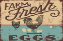 Farm Fresh Eggs Metal Sign, 12X16