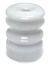 Woodstream Zareba Multi-Groove Wood Post Ceramic Insulator - 25 Pack