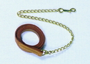 Beiler S Leather Lead With Chain - Brown - 6 Feet
