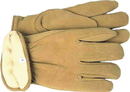 Boss Therm Insulated Split Deerskin Driver Glove - Yellow - Large