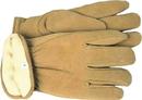 Boss Therm Insulated Split Deerskin Driver Glove - Yellow - Medium