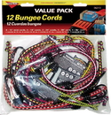 Keeper Bungee Cord Multi Pack - Assorted - 12 Piece