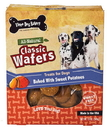 Three Dog Bakery Classic Wafers- Wheat Free - Sweet Potato - 13 Ounce