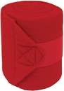 Mustang Polar Fleece Bandages For Horses - Red - 9 Foot / 4 Pack