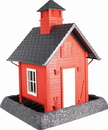 North States Industries Village Collection School House Bird Feeder - Red/Gray/White - 5 Pound Cap