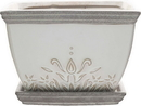 Southern Patio CRM-064879 Clayworks Brentwood Planter Square, White, 6 Inch