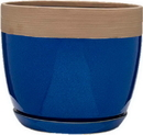 Southern Patio CRM-064831 Clayworks Ana Planter, Navy, 12 Inch