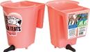 Tdl Agritech Single Teat Reversible Bucket Feeder - Peach - 6 Quart