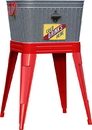 Panacea Products Rustic Washtub Beverage Stand With Bottle Opener