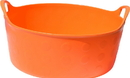 Tuff Stuff F4-OR Flex Tub, Orange, 4.2 Gallon