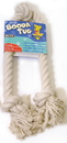 Booda Booda Tug 3 Knot Rope Dog Toy - White - Extra Large