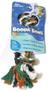 Booda Booda Bone 2 Knot Rope Bone Dog Toy - Multi Colored - Large