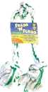 Booda Fresh-N-Floss 3-Knot Rope Bone Dog Toy - Spearmint - Extra Large