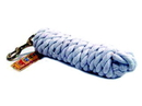 Hamilton Cotton Rope Lead With Brass Bolt Snap - White - 10 Foot