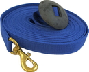 Imported Horse &Supply Lunge Line With Rubber Stop - Navy - 25 Feet